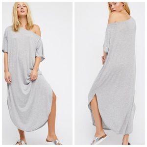 Free people beach women's grey Reese maxi dress